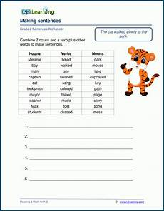 writing sentences worksheets for grade 2 k5 learning