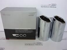 Audi Endrohrblende Auspuffblende F 252 R 6 Zylinder Chrom