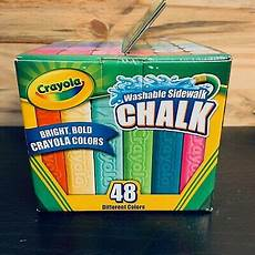 crayola washable sidewalk chalk 48 count assorted bright