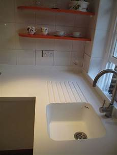 corian kitchen sinks seamless corian sink and worktop with routed drainer