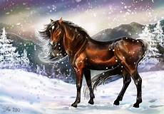 Ausmalbilder Pferde Im Winter Fotos Pferde Winter Schneeflocken Schnee Tiere 3634x2550