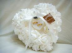 wedding favors ring pillow with transprent ring box 5 color heart design very special unique