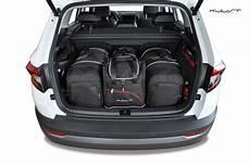 skoda karoq kofferraumvolumen kjust skoda karoq 2017 car bags set 4 pcs select car