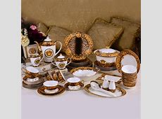 69 pieces Medusa and leopard design porcelain dinner set