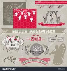 scrapbook design elements vintage merry christmas stock vector 114001015