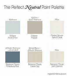 best neutral paint color palettes for your entire house interiors by color