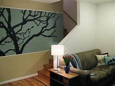 Bedroom Easy Wall Mural Ideas by 100 Half Day Designs Treetop Wall Mural Hgtv