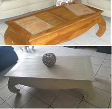 table basse style coloniale repeinte avant apr 232 s meubles