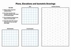 ks3 maths isometric and elevations worksheet teaching resources