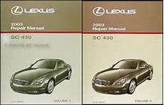 free car repair manuals 2003 lexus lx parking system 2003 lexus sc 430 repair shop manual original set new sc430 oem service 2 volume ebay