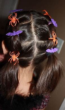 diy halloween hair halloween hairstyle for kids with halloween rings embellishments
