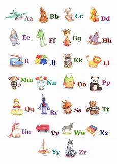 abc alphabet poster a4 print toy alphabet nursery decor