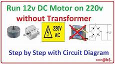 How To Run 12v Dc Motor On 220v Without Transformer Easy