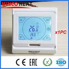 Minco Heat Programmable Smart Thermostat Digital by Minco Heat Lcd Programmable Digital Room Floor Heating