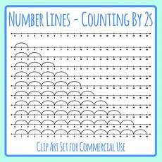 skip counting number line for multiplication worksheets 11962 number lines counting by twos or multiplication by 2s skip counting clip
