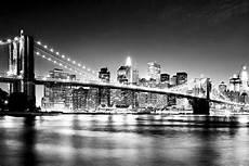 new york black and white bridge manhattan skyline wallpaper wall mural decor photo