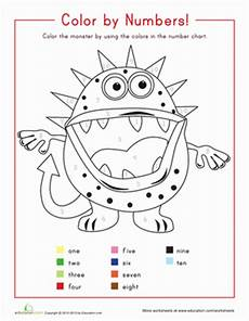 colours and numbers worksheets 18745 color by number 1 10 worksheet education