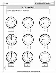 time on the hour worksheets for kindergarten 3611 telling time worksheets from the s guide