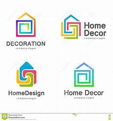 vector logo design home decor decoration stock vector illustration of multicolor house