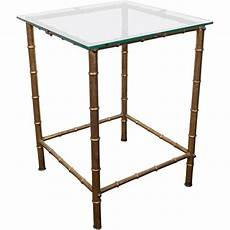 Gold Bamboo Glass Coffee Table