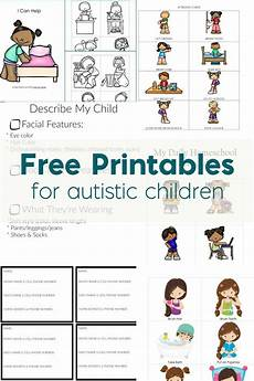 free printables for autistic children and their families or caregivers with images