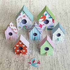 use this free template to make paper birdhouses for