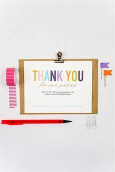 thank you card template business thank you cards template instant naturally