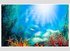 """Aquarium Background """"School Of Fish"""" Fish Tank Graphic"""