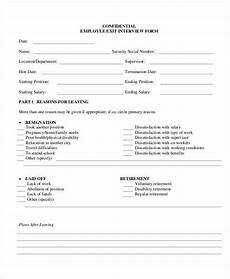employee exit interview form template exit interview form 9 free pdf word documents download