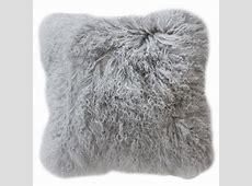 Collezióne Tibetan Lamb Cushion   Grey