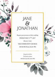 Digital Wedding Invitations Templates