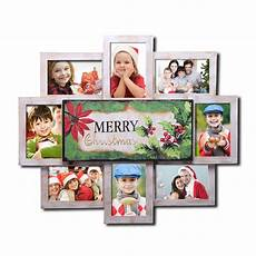 adecotrading 8 opening decorative quot merry christmas quot wall hanging collage picture frame wayfair