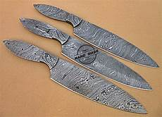 damascus kitchen knives for sale lot of 3 pcs professional kitchen knives blank blade set