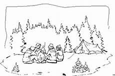 Ausmalbild Indianer Am Lagerfeuer Vier An Einem Lagerfeuer Sport