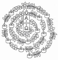 Ausmalbilder Religionsunterricht Grundschule Mandala Ostern Auferstehung Osterkerze Ostern
