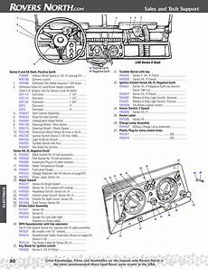series ii iia iii electrical dash land rover parts rovers land rovers reference