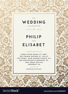 invitation card template vintage vintage wedding invitation template royalty free vector
