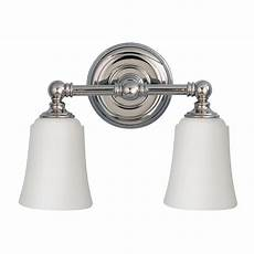 huguenot lake double bathroom mirror wall light in polished chrome with opal glass shades ip44