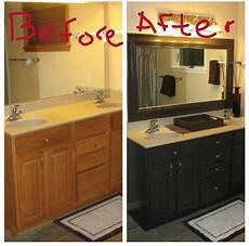 bathroom redo with oak trim cabinets via lori new home pinterest oak trim