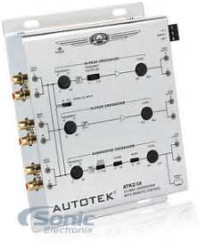 autotek atk2 3x 2 way or 3 way active crossover w subwoofer input