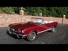 1965 Ford Mustang Convertible In Burgundy For Sale Old