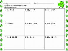 algebra worksheets multi step equations 8494 math central february 2013