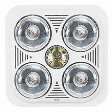 mistral 4 x 275w 3 in 1 bathroom heater lights instant infrared heater led globe 4894052019419