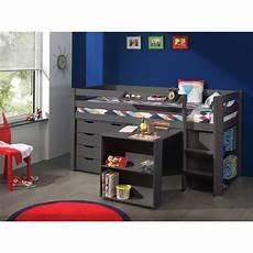 bureau lit combiné lit combin 233 enfant pin massif laqu 233 taupe yolane matelpro