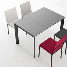 Table Petit Espace Extensible En Verre 4 Pieds