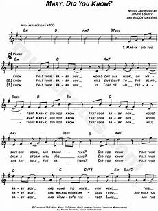 mark lowry quot mary did you know quot sheet music leadsheet in e minor transposable download