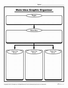 main idea graphic organizer printable main idea organizer worksheet