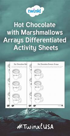 addition worksheets in 8897 the winter math activity make arrays to solve multiplication and division problems with