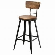 chaise de bar bistrot m 233 tal et bois koya design
