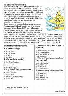 reading comprehension for beginner and elementary students 3 reading comprehension reading